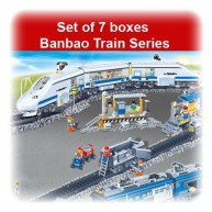 Set of 7 boxes Banbao Train Series