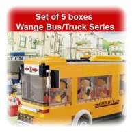 Set of 5 boxes Wange City Bus and Truck