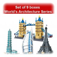 Set of 10 boxes Wange World's Great Architecture Series