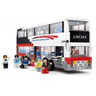 Bus (Double Decker, White)