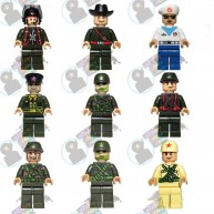 Soldier Minifig set of 9