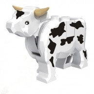 Cow with Black Spots Pattern, Complete Assembly