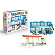 Double Decker Bus (Blue)