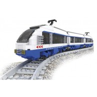 Electric Passenger Locomotive with 2 Passenger Cars