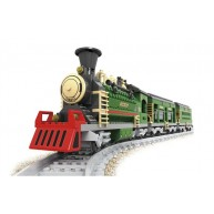 Steam Locomotive with Support Car & Passenger Car