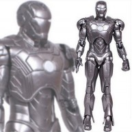 Silver plated Iron Man Mark 42 (loose figure) - Marvel Select / 7.5-inch action figure