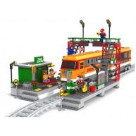 Union Pacific Locomotive in Train Station