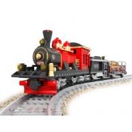 Steam Locomotive with Mine Car & Timber Car