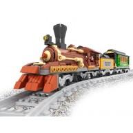 Steam Locomotive with Mine Car & Passenger Car